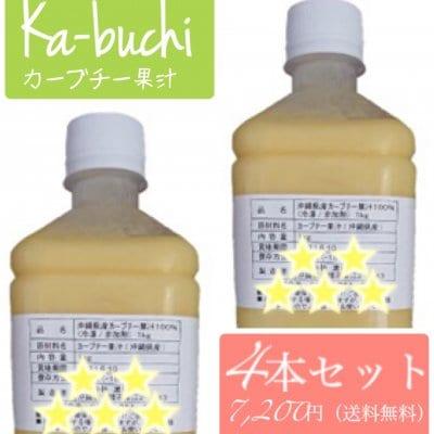 沖縄県産カーブチー果汁100%冷凍非加熱1kg 4本セット
