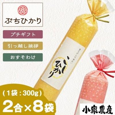 ☆令和2年産新米☆2合(300g)×8袋【ぷちひかり】|いつものこしひかり白米