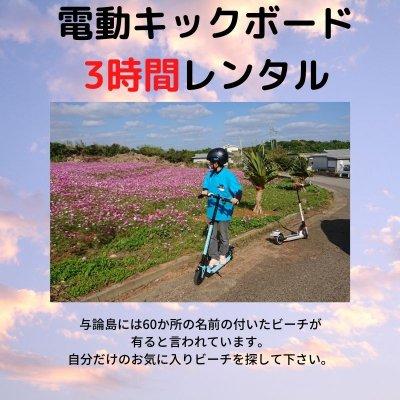 【レンタル】【3時間】環境に優しい電動キックボード【現地決済のみ】