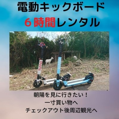 【レンタル】【6時間】環境に優しい電動キックボード【現地決済のみ】