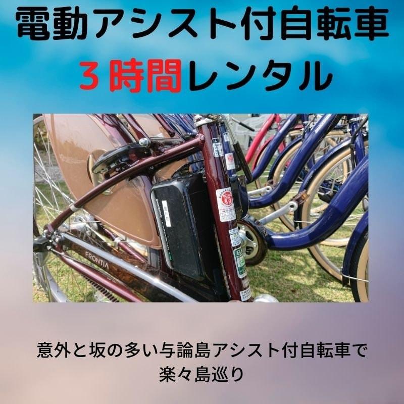 【レンタル】【3時間】電動アシスト自転車【現地決済のみ】のイメージその1