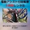 【レンタル】【3時間】電動アシスト自転車【現地決済のみ】