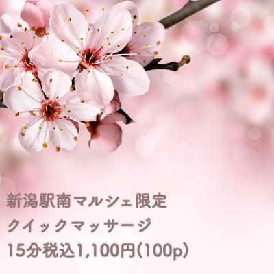 3月8日新潟駅南マルシェ限定!!クイックマッサージ(15分)