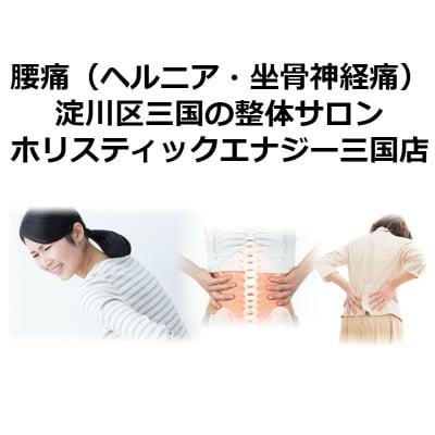 【現地払い専用】腰痛(ヘルニア・坐骨神経痛)【整体サロン ホリスティックエナジー三国店】