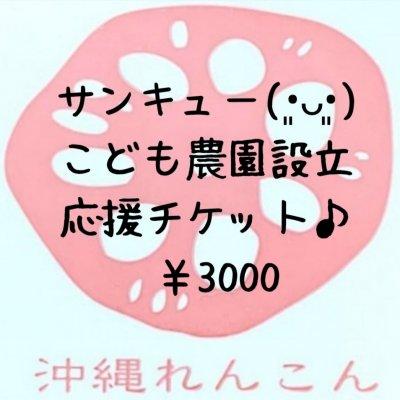 【応援お願いします!!】こども農園設立3,000円応援チケット♪