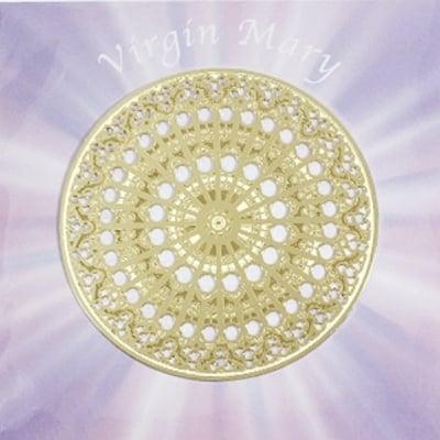 聖母マリアの愛であなたの不安を包み込むエナジーカード バラ窓(慈愛)