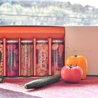 【佐賀野菜のピクルス】佐賀産熟成お酢使用 季節のおまかせ5本入りギフトBOX