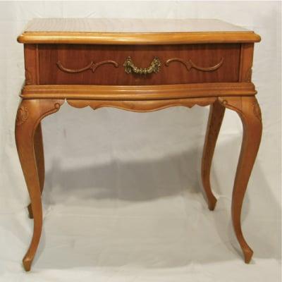 【フレンチアンティーク家具】猫足テーブル 引き出し付き
