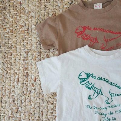 ダイナソーTシャツ キナリ70cm〜80cm