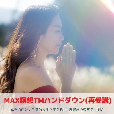 MAX瞑想システムTM ハンドダウン(再受講) / 本当の自分に目覚め人生を変える世界最古の帝王学MUSA(ムーサ)