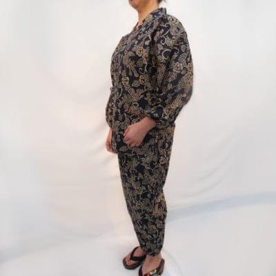 くつろぎの作務衣(幾何学模様)