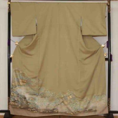 色留/ウグイス色  京の庭園 I(正絹)M 2416-020