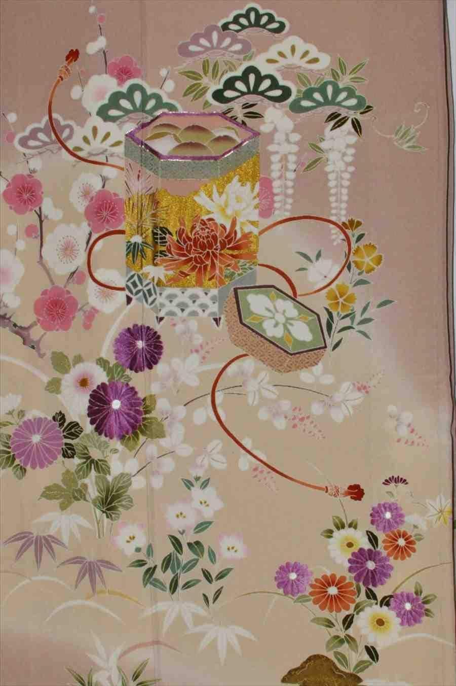 色留/ピンク梢 (正絹)L寸 幸和 三つ紋 2410-070のイメージその2