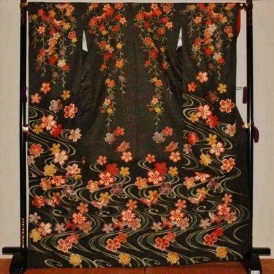 中振/雲に花と蝶 (正)袖丈108 2371-040