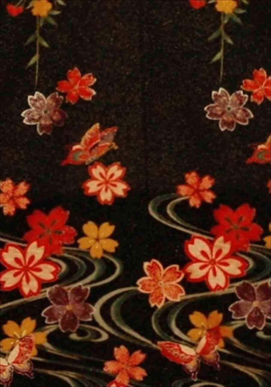 中振/雲に花と蝶 (正)袖丈108 2371-040のイメージその2