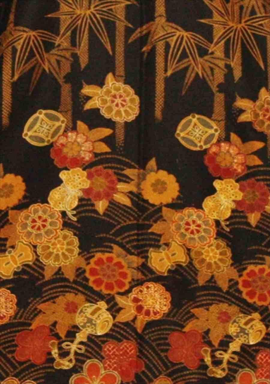 中振/黒地に桜   616 (正)袖丈108 2371-030のイメージその2