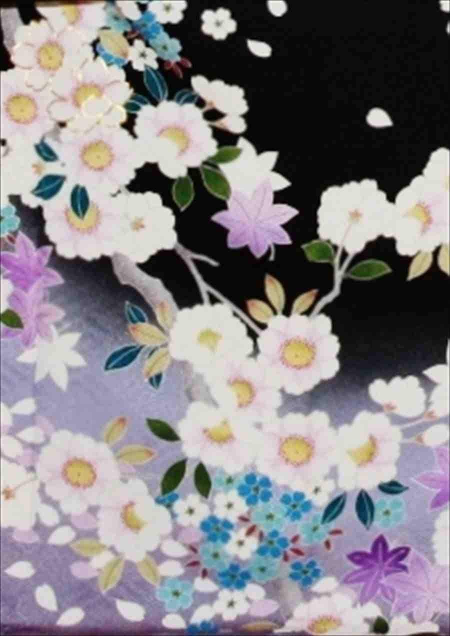 中振/黒紫もみじ (正)袖丈110泉友彩 2370-080のイメージその2