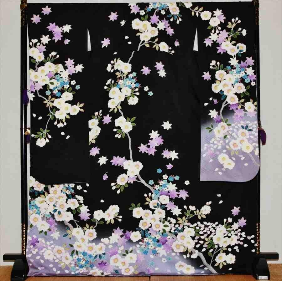 中振/黒紫もみじ (正)袖丈110泉友彩 2370-080のイメージその1