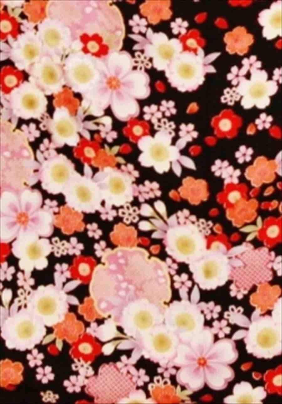 中振/黒地彩花(袋帯セット)(正)袖丈108泉友彩 2370-070のイメージその2
