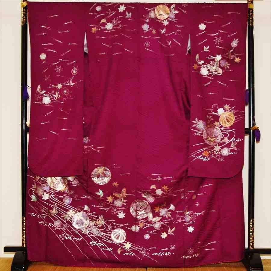中振/紫に松葉とまり  776(正)袖丈108 2357-130のイメージその1