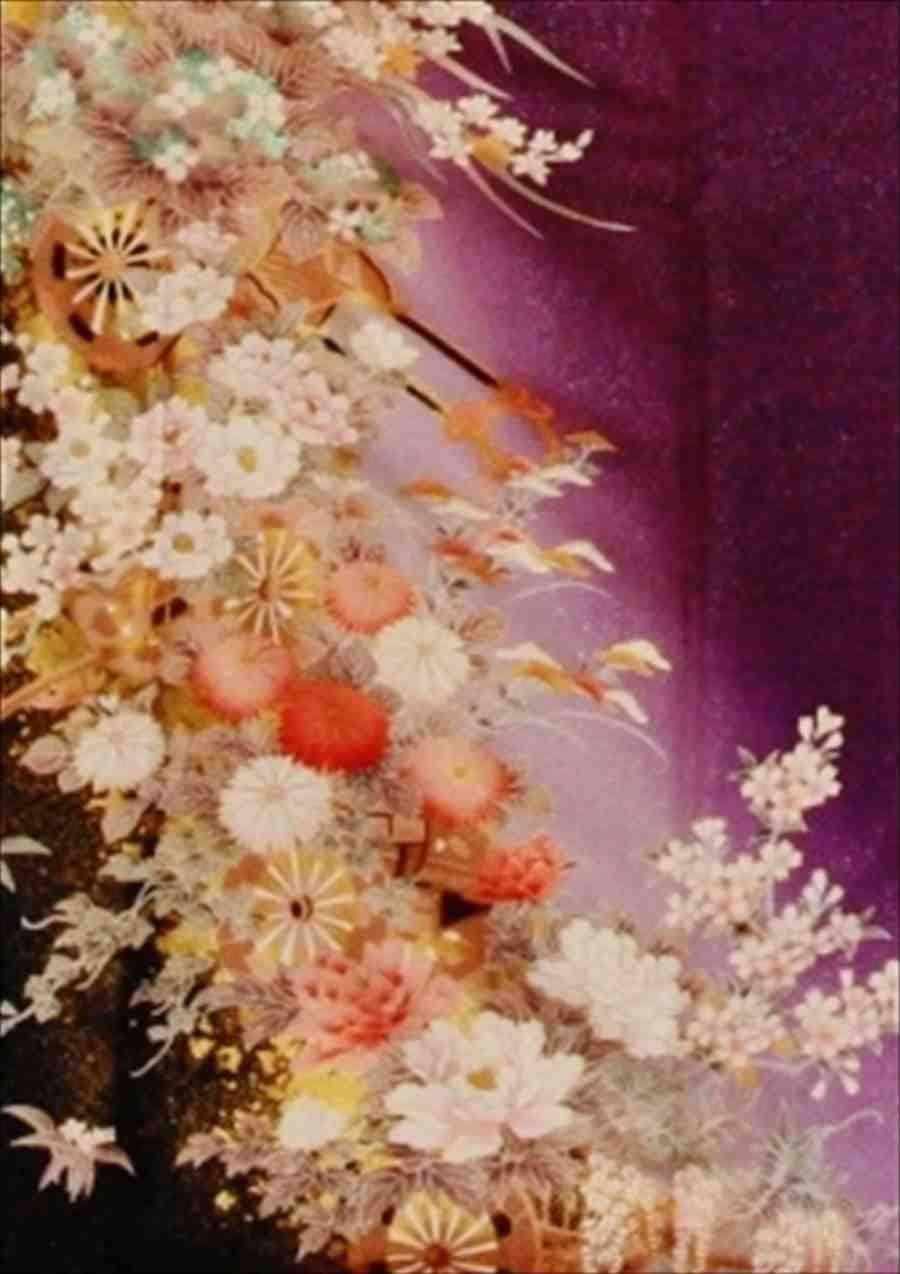 中振/紫ラメ  小花  746(正)袖丈108 2357-030のイメージその2