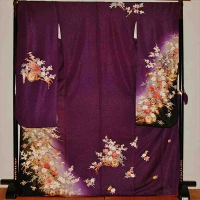 中振/紫ラメ  小花  746(正)袖丈108 2357-030