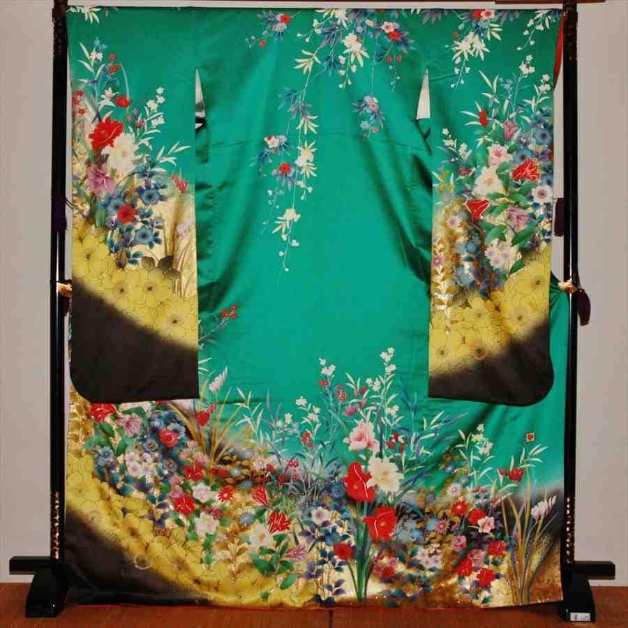 中振/グリーン  洋花 袖丈110 2356-100のイメージその1
