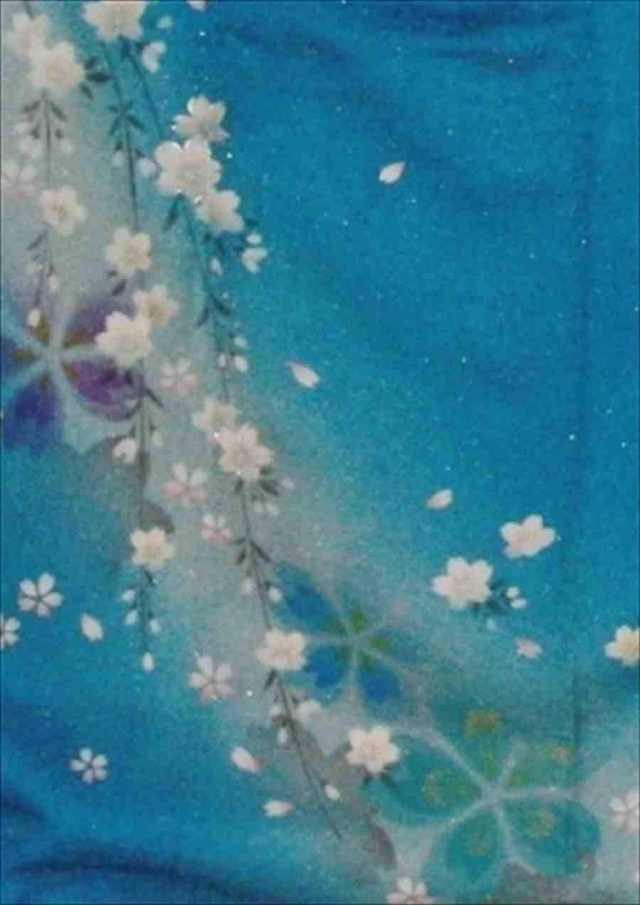 中振/ブルー地ベル・エール(正)袖丈108泉友彩 2350-060のイメージその2