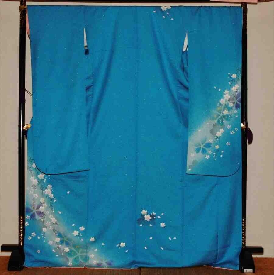 中振/ブルー地ベル・エール(正)袖丈108泉友彩 2350-060のイメージその1