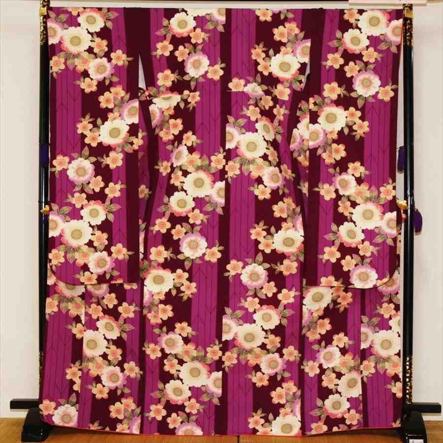 中振/紫縞桜ロマン(袋帯セット)(カ)袖丈108 泉友彩 2340-100のイメージその1