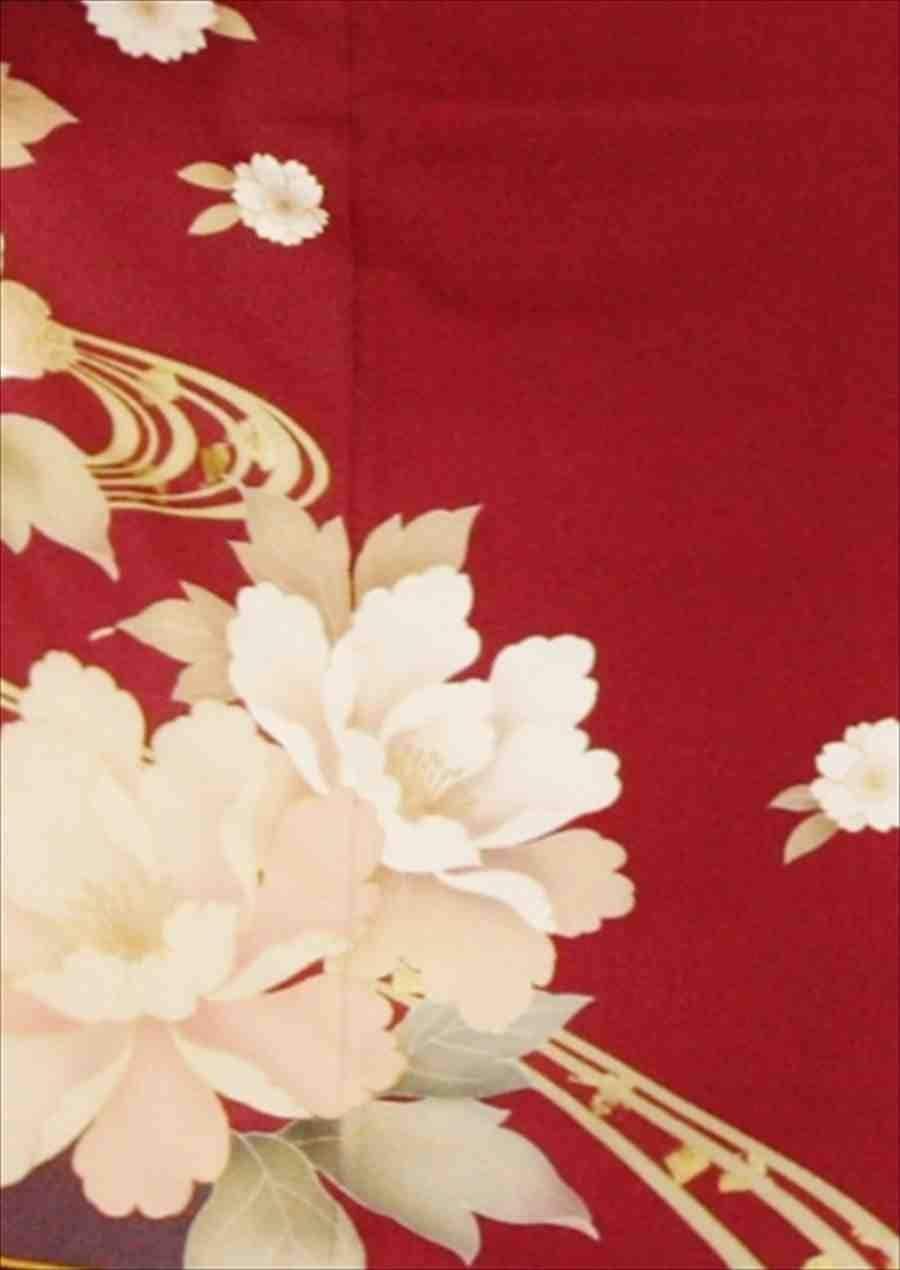 中振/赤紫に芍薬 (正) 袖丈108 泉友彩 2340-050のイメージその2