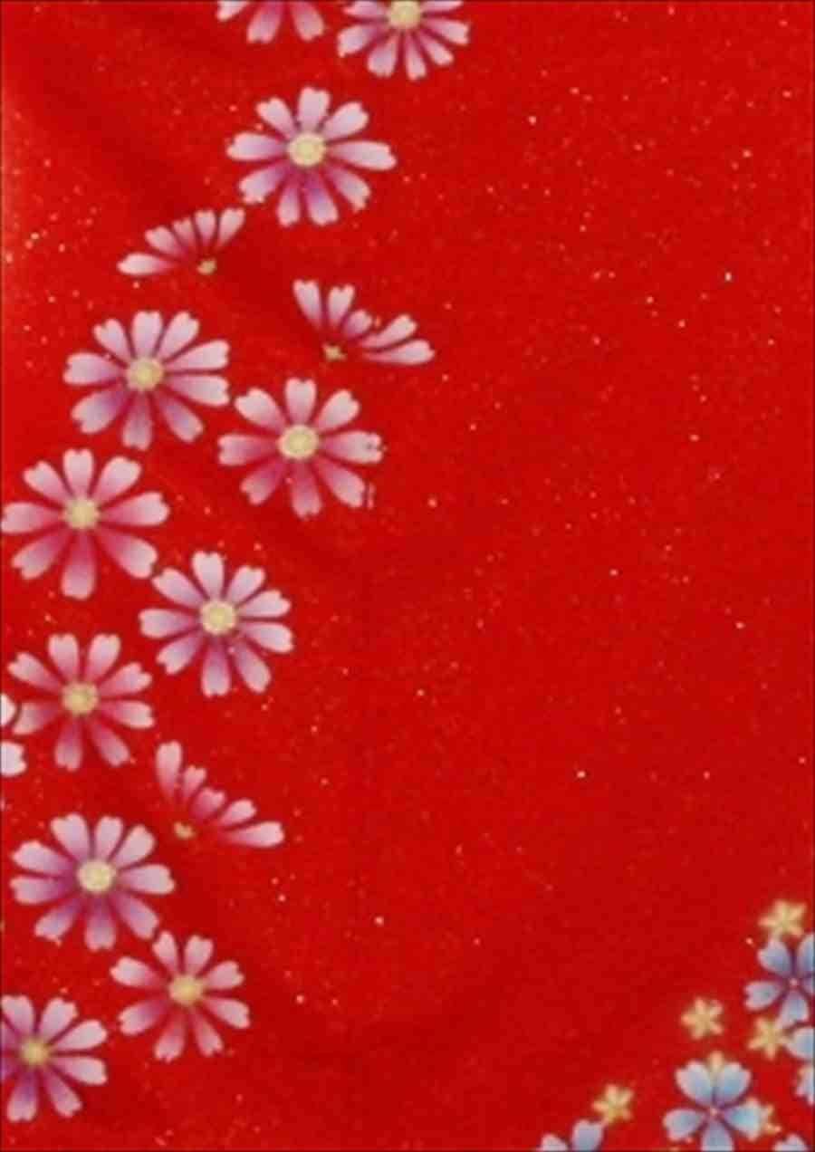 中振/赤 グレーラメ地花流水 (正)袖丈110 とみおかや 2335-150のイメージその2