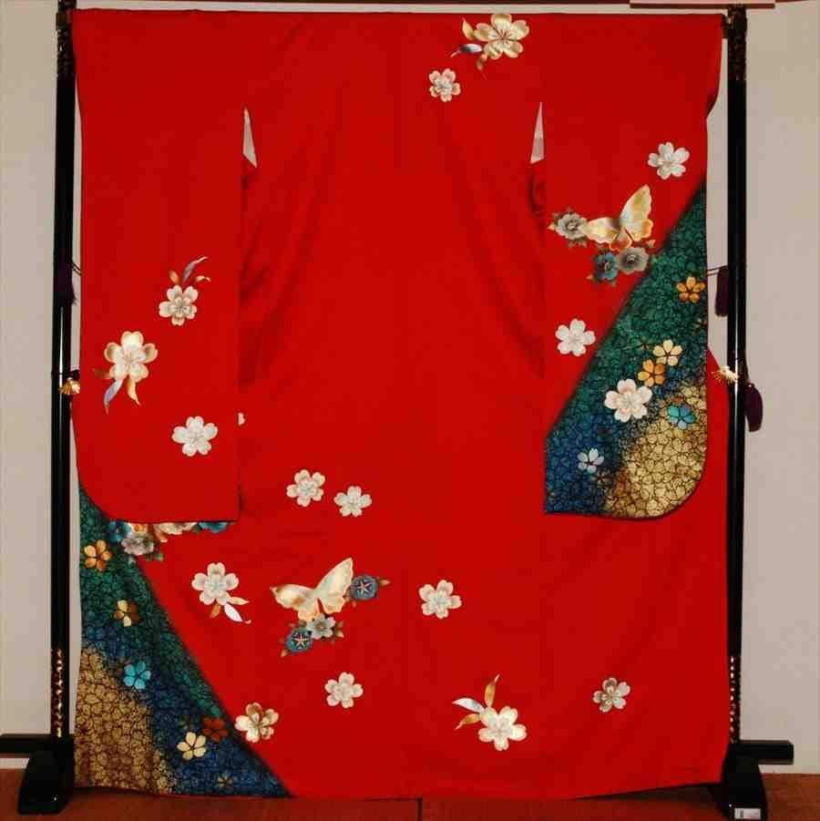 中振/赤ラメ  ぼたんに蝶  716 (カ) 袖丈108 2331-160のイメージその1