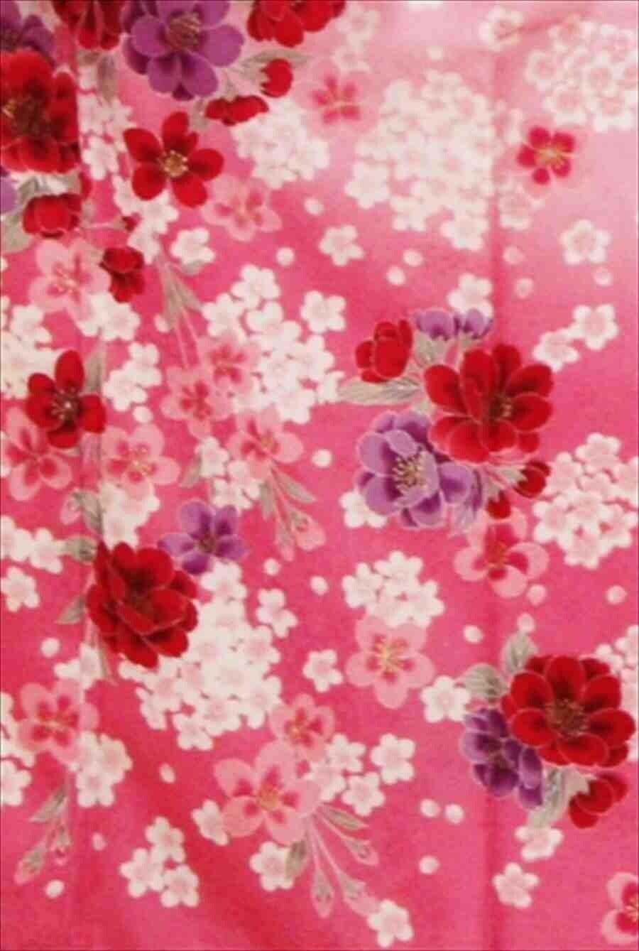 中振/ピンク牡丹に桜(化)泉友彩/袖108 2320-060のイメージその2