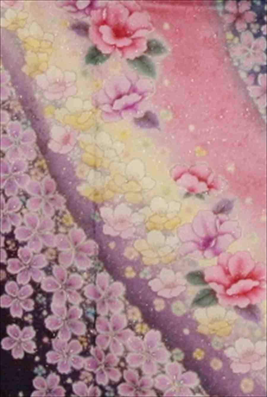 中振/ピンクブルーラメに桜  (正)とみおかや 袖丈112cm 2320-020のイメージその2