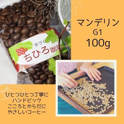 【ちひろ珈琲の自家焙煎珈琲豆】マンデリンG1 深煎り 100g