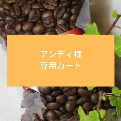 【ちひろ珈琲の自家焙煎珈琲豆】アンディ様 専用カート