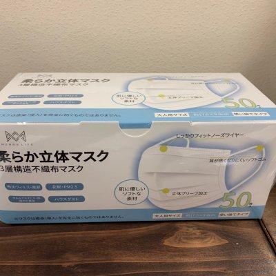 【コロナ対策】柔らか立体マスク(50枚入)