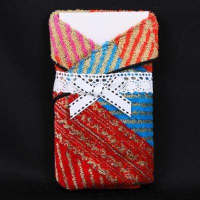 【45-6】お正月間近♪ポチ袋 ポケットサイズ(20cm×20cm)プチタオルハンカチ付きポチ袋♪『ぷちなポチ袋』復興被災者支援『気仙沼ミサンガプロジェクト』の新商品 K's cafe(ケーズカフェ)