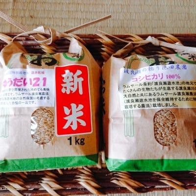 【令和元年】新米2種類を食べ比べ セット *関東、中部、東北3県 配送代込み2600円*
