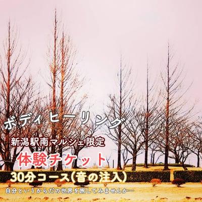 3月8日新潟駅南マルシェ★ボディーヒーリング体験30分コース★