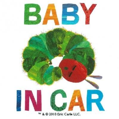 BABY IN CAR はらぺこあおむし CARステッカー【ERIC CARLE エリックカール】