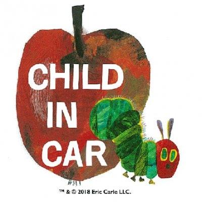 CHILD IN CAR はらぺこあおむし CARステッカー【ERIC CARLE エリックカール】