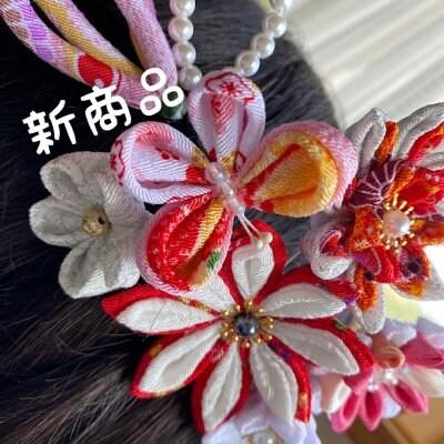 【増美】ヘアー飾り/つまみ細工の匠