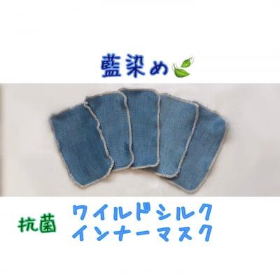 抗菌 藍染め ワイルドシルクインナーマスク 冷え取り 温活 花粉症 デトックス ウィルス ワイルドシルクシート 美肌 洗顔 インフルエンザ コロナウィルス マスクインナー