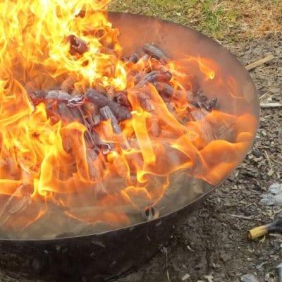 直径56㎝無煙炭化器☆土壌改良材の炭づくり、BBQやキャンプファイヤーもできる!☆モキ製作所の無煙炭化器M50☆直径56㎝×高さ21㎝・1.8㎏