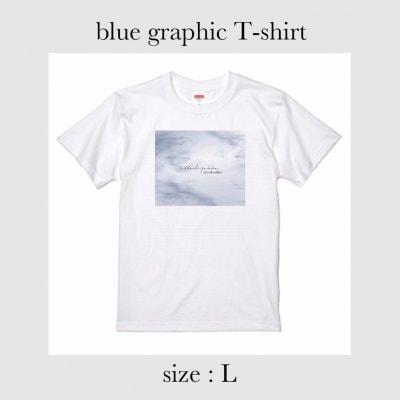 blue graphic Tシャツ Lサイズ