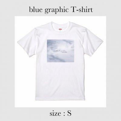 blue graphic Tシャツ Sサイズ