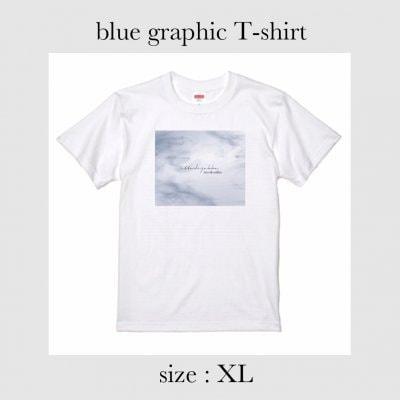 blue graphic Tシャツ XLサイズ