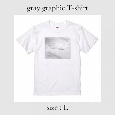 gray graphic Tシャツ Lサイズ